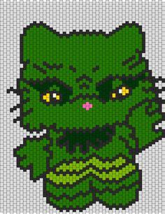 Creature From The Black Lagoon Hello Kitty bead pattern