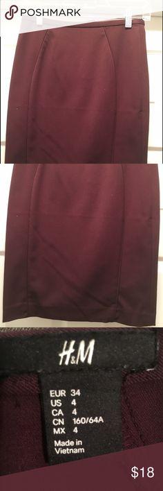 H&M Skirt H&m Burgundy Pencil Skirt H&M Skirts Pencil