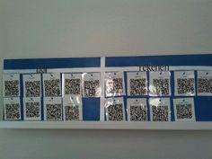 Qr-codebord gemaakt met instructiefilmpjes voor rekenen en taal. Heel makkelijk voor verlengde instructie en instructie bij zelfstandig werken