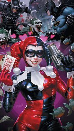 Catwoman, Batgirl, Harley Quinn Drawing, Joker And Harley Quinn, Comic Books Art, Comic Art, Art Cyberpunk, Girls Anime, Cartoon Girls