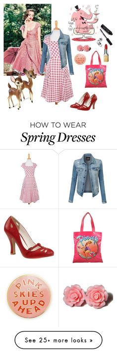 """""""Pin Up: Gingham Dress"""" by icancatchstars on Polyvore featuring Pinup Couture, LE3NO, Jeremy Scott, Elizabeth Arden, Bobbi Brown Cosmetics, ban.do and vintage"""