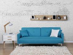 Sofa z funkcją spania morska - kanapa rozkładana - wersalka - LUCAN