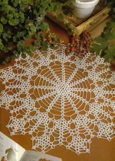 """Photo from album """"Decorative Crochet 25 on Yandex. Crochet Gifts, Crochet Doilies, Views Album, Crochet Projects, Dream Catcher, Projects To Try, Holiday Decor, Ideas, Pattern"""