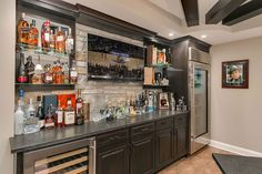 basement bar counter