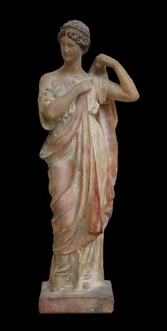 11 Inches High x 4 Inches Wide x Inches Deep, The Tanagra Figurines were found in excavating the ancient City of Tanagra, from which they derive . Ancient Greek Sculpture, Greek Statues, Terracota, Roman Sculpture, Sculpture Art, Roman History, Art History, Ancient Romans, Ancient Art