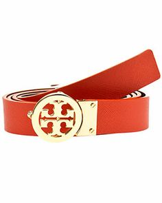 Tory Burch Leather Rotating Logo Belt $185.00  $99.90