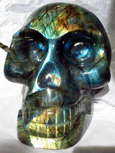 Labradorite Skull  >>Nature Haven, Peoria, IL