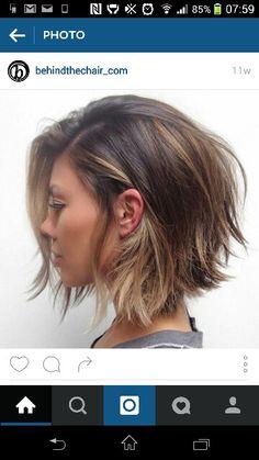 Blunt bob hair cut