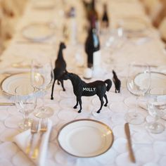 Chalk Board Horse Name Place Holders | How to impress your friends with perfect equestrian table.