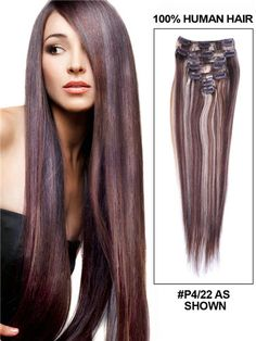 Ombre Yaki clip in human hair extensions