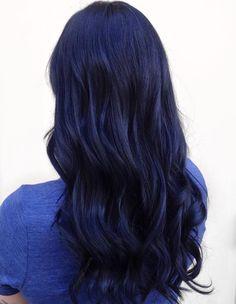 Long Blue Black Hair