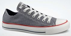 What I'm wearing today... Recently-purchased blue gingham Converse :-)