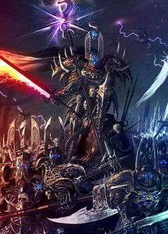 Chaos Warriors of Tzeentch, ready to lay waste to the South in the name of the Changer of Ways