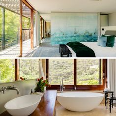 Dreaming of revamping your bedroom and bathroom? You'll find plenty of inspiration here!  #bathroom #bedroom #wallpainting #beautifuldecor #decor #interior #roomwithaview