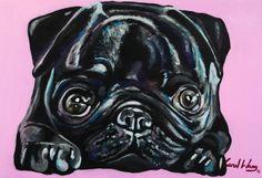 PUG DOG- ART PET- CAROL WANG https://www.facebook.com/carolinawangpage