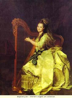 Dmitry Levitzky. Portrait of G. I. Alymova. 1775. Oil on canvas. The Russian Museum, St. Petersburg, Russia