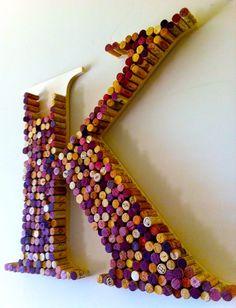 """wine cork art.. a """"C"""" of course"""