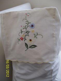Vintage Antimacassar setCream CottonFloral by HeartsHandCrafts, £20.00
