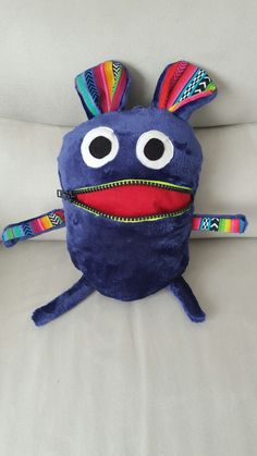 Worry Monster, Art School, Animals And Pets, Sewing Patterns, Crafty, Crochet, Ideas, Bags, Plushies