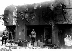 France May/June 1940 Damaged blockhouse of the Maginot Line.
