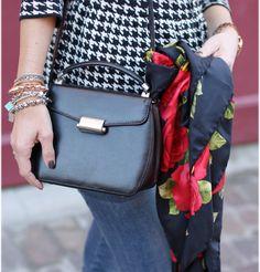 vintage leather shoulder bag, Mandarina Duck bag