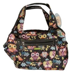 Lily Bloom Owl purse. I have a bag in this print. Who know you could get something this wonderful from recycled water bottles!