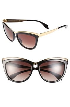 Alexander McQueen 57mm Cat Eye Sunglasses available at #Nordstrom $395