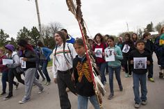 A group of about 60 people took to the streets of Pine Ridge Tuesday, concerned and frustrated about the increasing rate of youth suicides plaguing the reservation. Read the story here #PineRidge #suicideprevention #OglalaSioux #march