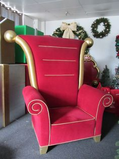 Santa Chair, 6ft tall, 4 ft wide. 1 available.