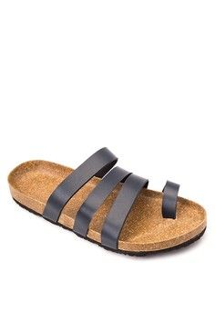 Toe Ring Multi Strap Sandals from Frassino Collezione in navy_1
