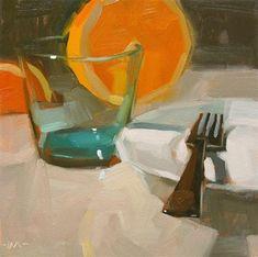 "Daily Paintworks - ""After Dinner, After Drinks"" - Original Fine Art for Sale - © Carol Marine"