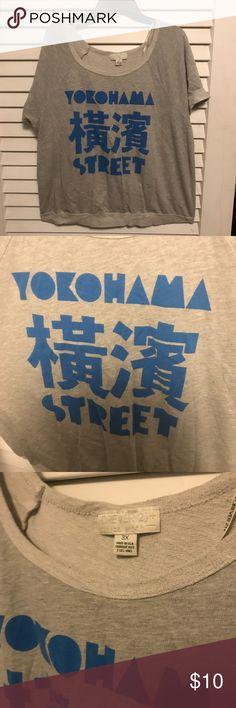 """Yokohama Street"" Shirt Worn a Few Times | Good Condition Forever 21 Tops Tees - Short Sleeve"
