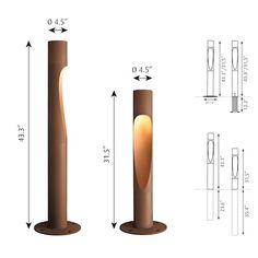 Carousel Item in 2020 Bamboo Light, Bamboo Lamp, Bollard Lighting, Modern Lighting Design, Bamboo Crafts, Bamboo Furniture, Wooden Lamp, Street Lamp, Pvc Pipe