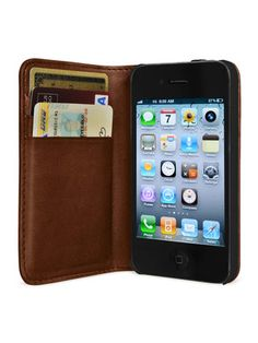 Leather Wallet Case for iPhone 4 by HEX on Gilt Home