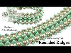 Rounded Ridges Bracelet, My Crafts and DIY Projects