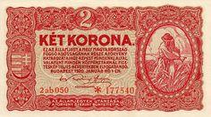 2 Кроны (1920) Венгрия (Hungary) Европа Money Notes, Design, Coining, Design Comics