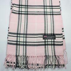 Men Women unisex 100%CASHMERE Classic Scarf tartan stripe Plaid Wool SCOTLAND