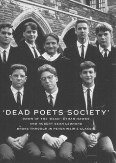 Dead Poets Society Robert Sean Leonard and Robin Williams were my performance heroes in this film. Beau Film, Foto Poster, Poster S, Robin Williams, See Movie, Movie Tv, Movies Showing, Movies And Tv Shows, Films Cinema