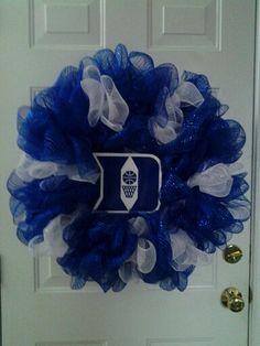 Duke Blue Devils deco mesh wreath.