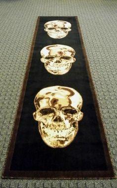 Skull Runner Rug 32 In. X 10 Ft.
