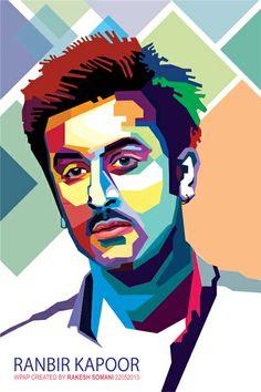 Wedha's Pop Art Portrait of Ranbir Kapoor