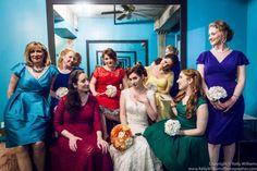 Bridal party photos at a Greenpoint Loft wedding  #BrooklynWedding #colorfulwedding #GreenpointLoftWedding