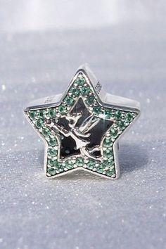 Pandora Disney Tinker Bell Star Magical Green by JEWELSELAGANT
