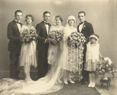 Wedding of Charlie and Emily Hanus (close friends of Ed & Stephanie Chocola). From l to r, Ed Chocola, Stephanie Chocola, Frank Hanus, Emily's sister (name unknown), Emily, Charles Hanus, unknown child.