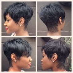 Luna 039 Fluffy Synthetic Short Straight Hair Wig with Bangs Black Hairstyles With Weave, Cute Hairstyles For Short Hair, Wig Hairstyles, Straight Hairstyles, Curly Hair Styles, Natural Hair Styles, Short Haircuts, Simple Hairstyles, Hairstyles 2018