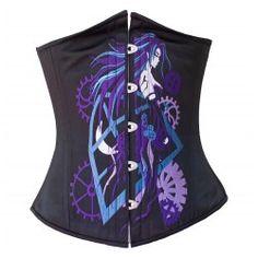 Purple Gears Anime Corset