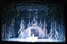 "Desmond Heeley. His set for Houston Ballet Compnay's ""The Snow Maiden"""