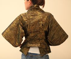 HOLY MCQUEEN JACKET! Shiny gold awesomeness!