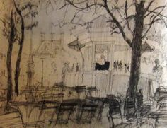"Saatchi Art Artist Josiane De Angelis; Drawing, ""Pen and Ink Sketch 1 (SOLD)"" #art"