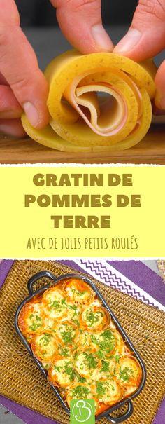 Qu'est-ce qu'on recherche en ce moment en cuisine ? La simplicité et la rapidité couplées à l'originalité, bien sûr ! Bon Ap' vous propose alors une recette de gratin de pommes de terre comme vous n'en avez jamais préparée. Des roulés de pommes de terre, des boulettes de viande, beaucoup de fromage et de la sauce tomate, de quoi vous faire plaisir avec peu d'efforts. #recette #gratin #pommesdeterre #mozzarella #boulettes #viande #saucetomate Mushroom Side Dishes, Vegetable Side Dishes, Sauteed Zucchini And Squash, Roasted Winter Vegetables, Southern Fried Cabbage, Yellow Squash Recipes, Cheesy Potato Casserole, Bon Ap, Kielbasa Sausage